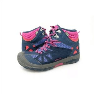 Merrell Capra Hiking Boots Blue Pink Waterproof